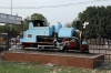 Steam Loco #800 plinthed outside Lucknow Charbagh station