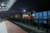 VSKP WDG3A triple set 14514/14754/14537 stand at Sambalpur Jn with a goods train