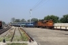 BNDM WDM3D 11221 arrives into Titlagarh Jn with 18301 0605 Sambalpur Jn - Rayagada Jn