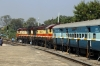 VSKP WDG3A's 14715/14603 at Titlagarh Jn having arrived with 12836 0830 (P) Yesvantpur Jn - Hatia