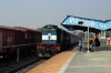 VSKP WDM3D 11569 arrives into Titlagarh Jn with 58527 0530 Raipur Jn - Visakhapatnam Jn