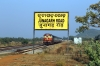 VSKP WDM3D 11537 shunts the stock into the carriage sidings at Junagarh Road after arriving with 58303 1350 Lanjigarh Road - Junagarh Road