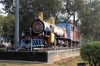 Steam loco plinthed outside Ranchi Jn station