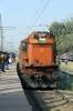 BKSC WDM3A 16649 arrives into Ranchi Jn with 58652 0735 Lohardaga - Ranchi Jn