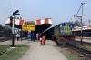 IZN YDM4 6552 waits to depart Pilibhit Jn with 52229 0630 Shahjahanpur - Tanakpur