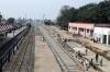 The first broad gauge tracks to be laid at Pilibhit Jn; unfortunately progress has caught up with the area and this once