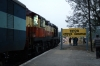 VSKP WDG3A 14602 at Gunupr after arrival with 58419 0300 Palasa - Gunupur
