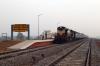 VSKP WDM3D 11511 at Rajsunakhala after arrival with 58429 0645 Khurda Road - Rajsunakhala; newly opened line