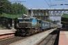 UBL WDP4B 40010 runs through Lottegollahalli with 17308 1410 (P) Bagalkot - Mysore Jn