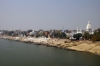 River Ganga as seen from the railway bridge over it at Kashi, just outside Varanasi