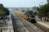 TKD WDM3A 18931 arrives Gurgaon with 12985 0600 Jaipur - Delhi Sarai Rohilla Double Decker Express