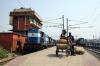 ET WDM3As 18638/18826 wait departure from Patna Jct with 12142 1040 Rajendranagar - Mumbai CST