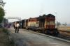 MGS WDM2 16676 prepares to depart Banka with 13241 0730 Banka - Rajendranagar Express