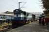 LKO WDM3D 11395 backs down onto the late running 54267 0855 Mughalsarai - Varanasi passenger