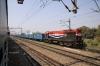 RTM WDM3A 18685 just outside Mughalsarai Jct with a goods train
