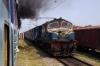 PTRU WDM2 17790 approaches Varanasi Jct with 13346 0610 Singrauli - Varanasi Intercity