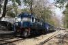 TKD WDP1 15001 waits departure from Kotdwara with 54388 1240 Kotdwara - Najibabad Jct passenger