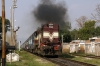 TKD WDM3A 14136 hammers through Ikkar with 14114 1325 Dehradun - Allahabad Jct