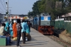LKO WDM3D 11250 arrives into Prayag Jct with 54254 0450 Lucknow - Prayag Ghat passenger; running over 3 hours late