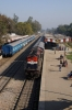 RTM WDM3A 18643 arrives into Salempur Jct with 55121 0530 Bhatni Jct - Varanasi passenger