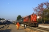 SPJ WDM3A 16334 waits at Ballia with 13106 0900 Ballia - Sealdah