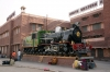 ZB steam loco #120 outside Jodhpur Railway Station