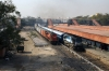 ABR WDM3A 16354 waits at Jodhpur after arrival with 54814 0500 Barmer - Jodhpur while KTE WDG3A 13094 runs by with a container train