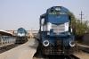 Jodhpur (L-R) ABR WDM2 17648 after arrival with 22478 0600 Jaipur Jct - Jodhpur SF Exp and ABR WDM3A 18987 with 54815 1510 Jodhpur - Barmer