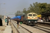 BGKT WDG4 12839 runs through Makrana Jct with a goods train