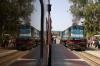 FL YDM4 6694 at Jaipur Jct having arrived moments earlier with 19736 1030 Sikar Jct - Jaipur Jct IC Exp