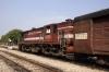 FL YDM4 6656 waits departure from Chomun Samod with 19735 1330 Jaipur Jct - Sikar Jct IC Exp