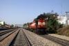 JHS WDM3A 18642 departs Gandhinagar Jaipur with 12404 1520 Jaipur Jct - Allahabad Jct