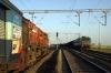 Raitkhera (L-R) VTA WDG3A 13485 with 51884 0830 Gwalior Jct - Bina Jct and BZA WAG7 28545 arriving with a coal set