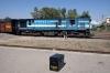 Mavli based YDM4 6674 at Mavli Jct having arrived with 52073 0500 Marwar Jct - Mavli Jct and run round to propel its train to the sidings