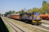 SBI YDM4 6628 at Udaipur City with the breakdown train
