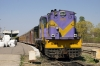 SBI YDM4 6386 at Udaipur City with the stock for 19943 1745 Udaipur City - Ahmedabad Jct