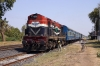 RTM WDM3A 18730 waits to depart Ambli Road with 59547 1200 Ahmedabad Jct - Okha