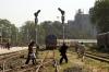SBI YDM4 6386 arrives at Sabarmati Jct with 52906 1355 Ahmedabad Jct - Mahesana Jct