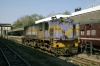 Ahmedabad Jct - SBI YDM4 6325 waits departure with 52926 1550 Ahmedabad Jct - Khed Brahma while SBI YDM4 6295 waits its next turn of duty in the centre road