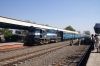 RTM WDM3A 16828 arrives at Sihor Jct with 59202 1005 Bhavnagar Terminus - Palitana