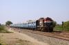 RTM WDM3A 18740 arrives at Sihor Jct with 12971 2130 (P) Bandra Terminus - Bhavnagar Terminus