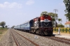 RTM WDM3A 16391 arrives at Sanosara with 59233 0930 Surendranagar Jct - Bhavnagar Terminus