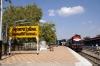 RTM WDM3A 18740 waits to depart Bhavnagar Terminus with 59296 1455 Bhavnagar Terminus - Palitana