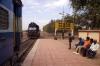 RTM WDM3A 16811 backs onto the stock at Mahuva to work 59244 1025 Mahuva - Rajula City