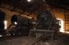 Wankaner Jct abandoned steam shed - (L) YG 4129 & (R) YP 2150