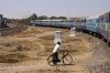 RTM WDM3A 16849 departs Rajkot Jct with 11466 1000 (P) Jabalpur Jct - Somnath