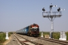 RTM WDM3A 18608 arrives at Dwarka with 19006 1225 Okha - Mumbai Central