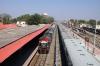RTM WDM3A 14078 arrives at Veraval Jct with 59297 0605 Porbandar - Somnath