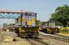 Veraval Jct (L-R) - SBI YDM4 6394 stabled and SBI YDM4 6247 after arrival with 52946 0730 Dhasa Jct - Veraval Jct