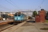 AJNI WAG7 27438 runs through Kanjari Boriyavi Jct with a southbound petroleum train